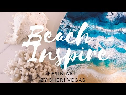 How to create your own beach-inspired Resin Art. DIY BEACH WALL ART
