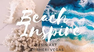 Beach inspired Resin Art