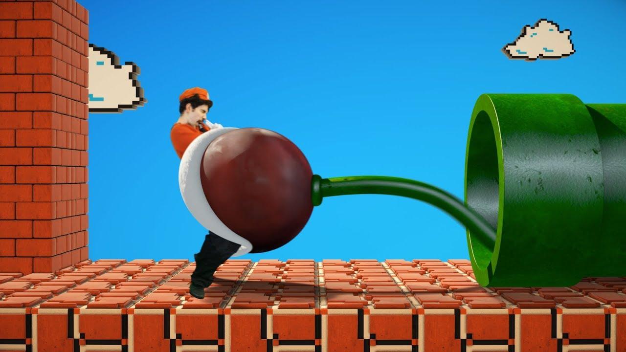 Super Mario vs Piranha plant
