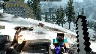 The Elder Scrolls V: Skyrim - Minecraft [Мод]