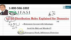 457 b Distribution Rules - 457 b Distribution Rules Explained