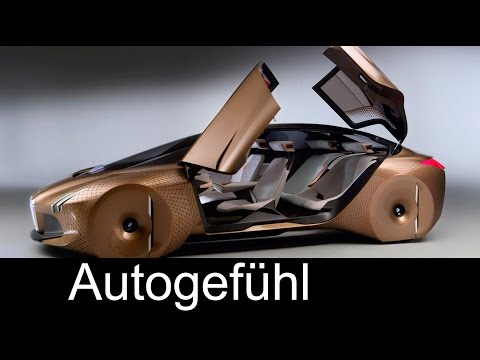BMW Vision Next 100 concept car showing future of BMW Zukunft - Autogefühl