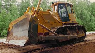 Новый бульдозера Б10 на строительстве дороги, Йошкар-Ола. Купить бульдозер Б10 в Росальянсе(, 2015-08-27T11:14:00.000Z)