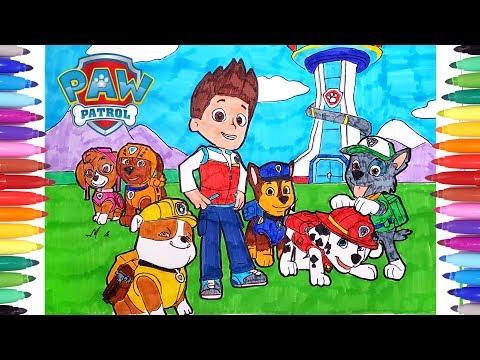 Paw Patrol Kids Coloring Book