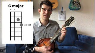 Easy Mandolin Chords - G, C, D - Beginner Lesson