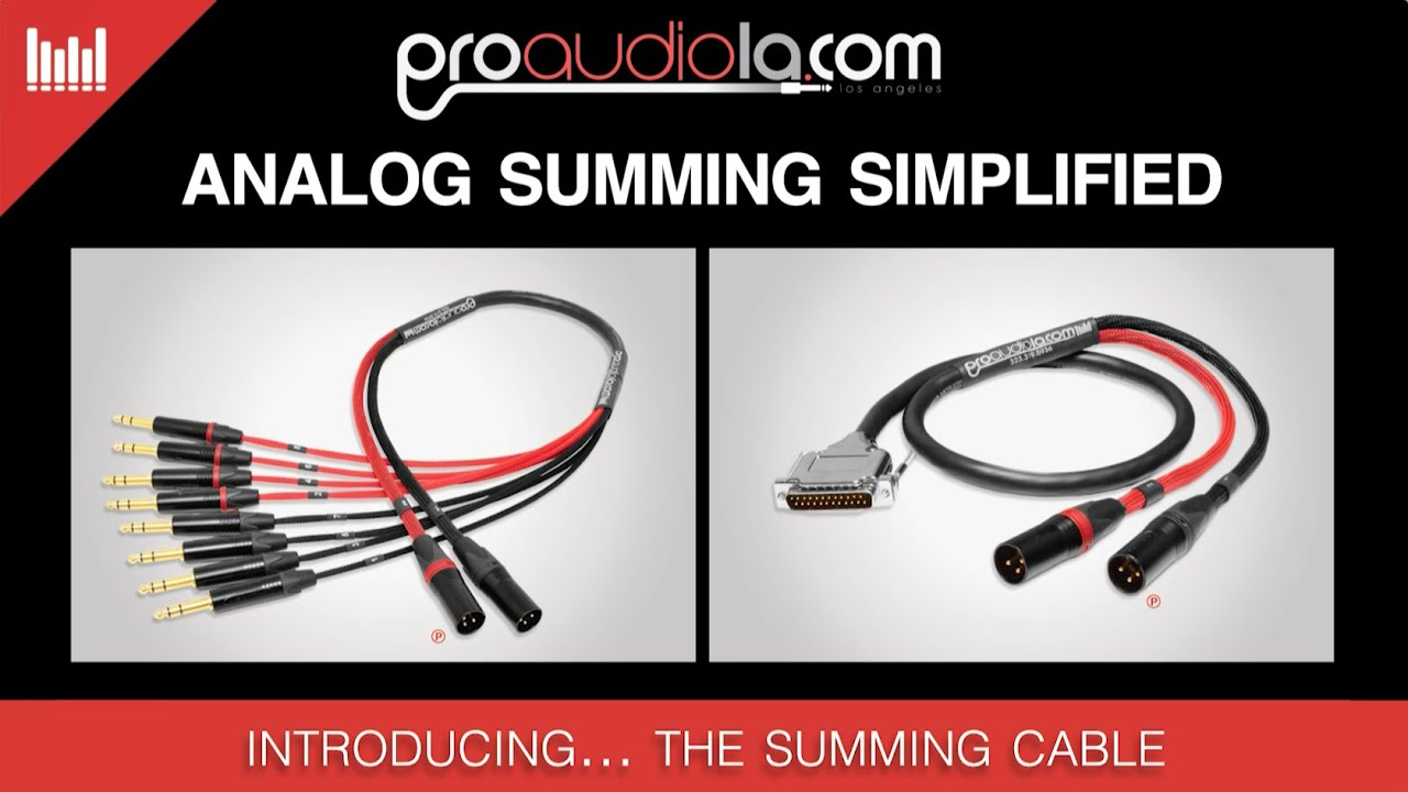 The SUM Cable Quick Overview | Pro Audio LA - YouTube