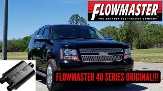 FLOWMASTER 40 SERIES ORIGINAL DUEL OUTLET ON 08 CHEVY TAHOE 5.3 V8