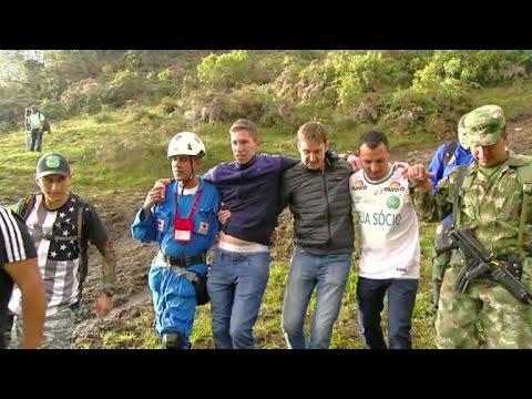 Sobrevivientes de Chapecoense visitan sitio de tragedia aérea