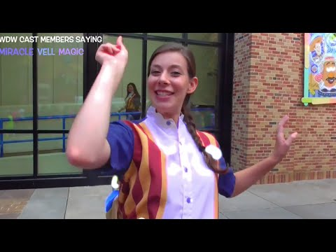 Walt Disney World Cast Members saying the Magic Words: Miracle Vell Magic! ♛