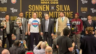 Chael Sonnen vs Wanderlei Silva full press conference & face off video