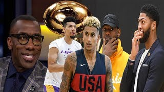 Shannon Sharpe ECSTATIC REACTION to the workout videos of the Los Angeles Lakers