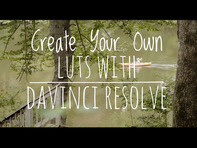 Create your own LUTS with Davinci Resolve