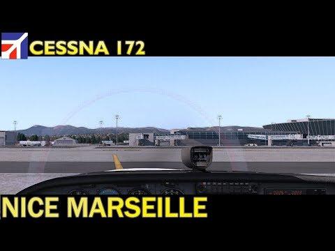 X Plane 11 : Cessna 172 :  Nice to Marseille