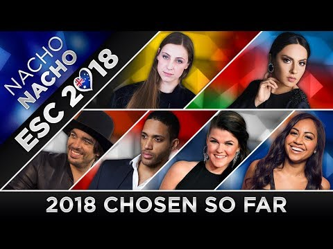 Eurovision 2018 - Artists Chosen (so far) 🇦🇺🇦🇹🇦🇿🇧🇪🇫🇮🇳🇱