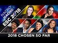 ESC 2018 - Artists Chosen (so far) 🇦🇺🇦🇹🇦🇿🇧🇪🇫🇮🇳🇱