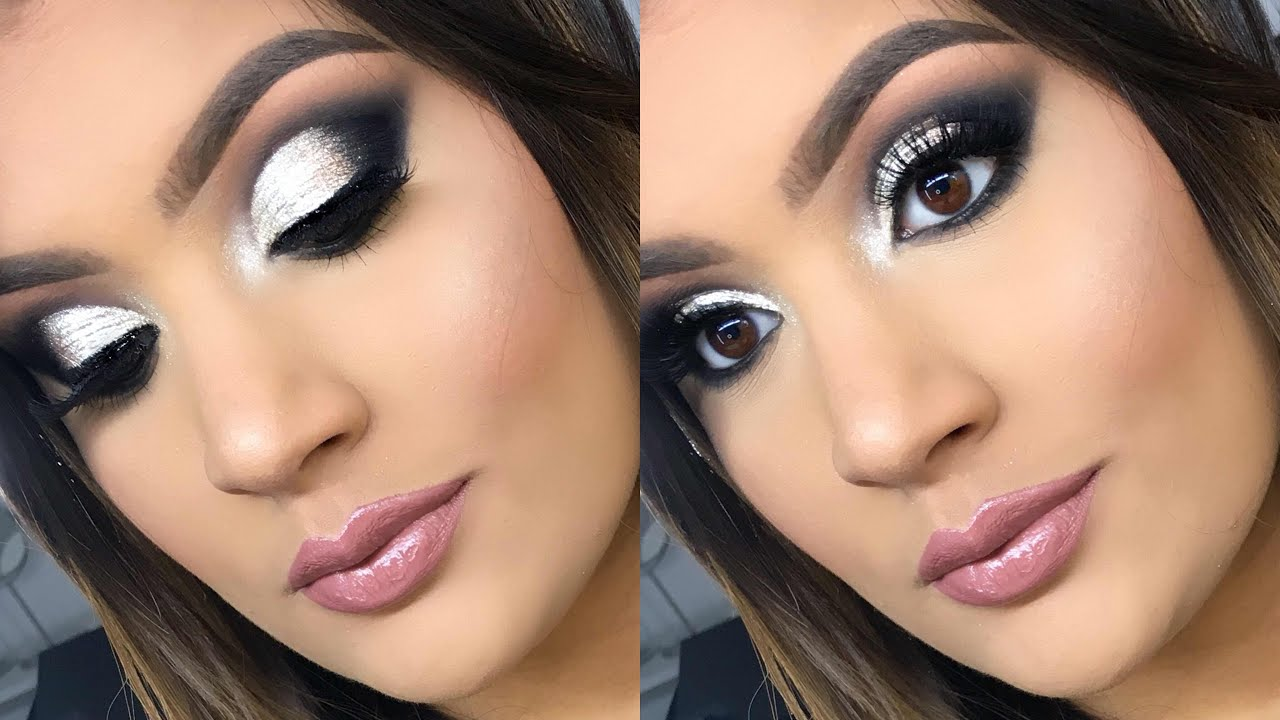 Maquillaje Plateado Y Negro Abrildoesmakeup Youtube - Maquillaje-negro
