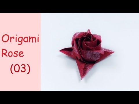 Mothers Day Origami Rose   DIY Paper Crafts   DIY Handmade   Masahiro Ichikawa