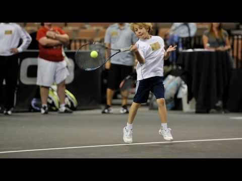 Jason hitting with Agassi and Courier