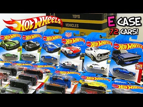 Unboxing Hot Wheels 2018 E Case 72 Car Assortment!