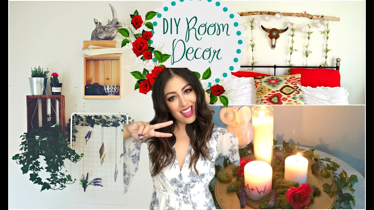 Diy room decorations 2015 tumblr greenery plants youtube for Room decor ideas with plants