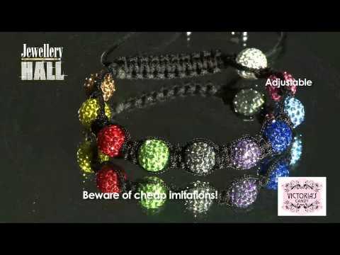 Item 8 High Quality Genuine Crystal Ball Multi Colour Bracelet Mov Ff
