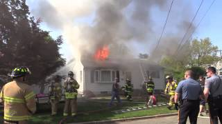 Pompton Lakes NJ Fire dept house fire on Chestnut Ave severely damages home of Fire Chief.
