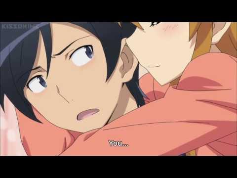 Oreimo scene - Kirino comforts her brother