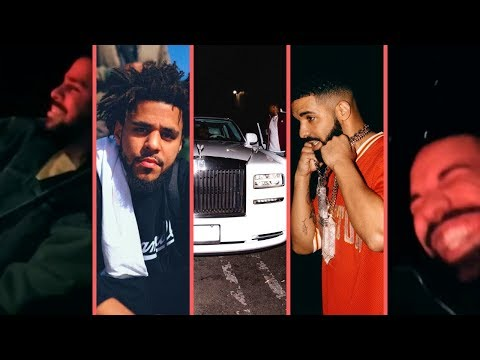 Drake and J. Cole In 2018 Rolls-Royce Ghost Laughing and Tripping On How Far They've Came (Sick Car)