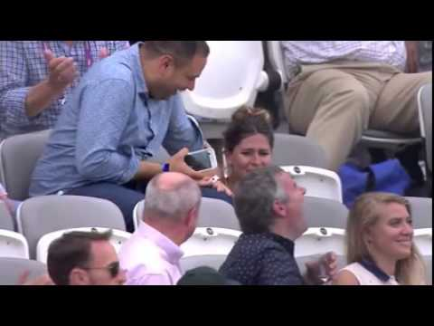 Thumbnail: Players from both teams were laughing after a Woman in the crowd forget where the seat was. ‪‎Ashes‬