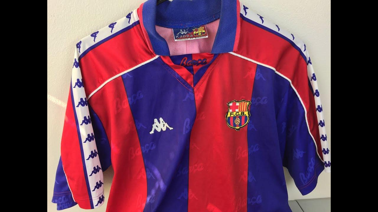 a033cdb3b26d62 Retro Review: 1992-1995 FC Barcelona Home Jersey by Kappa [4K] - YouTube