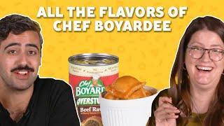 We Tried ALL 21 Flavors of Chef Boyardee Flavors | TASTE TEST