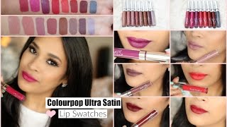 Colourpop Ultra Satin Lip Try On Swatches & Review On Medium Tan Skin - MissLizHeart
