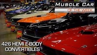 Muscle Car Of The Week Video Episode #132: 426 Hemi 'Cuda Challenger Convertible Display MCACN V8TV