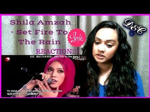 Shila Amzah - Set Fire To The Rain | Reaction
