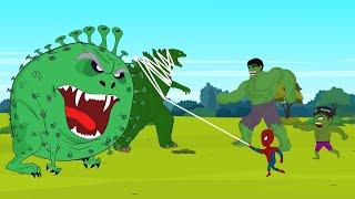 Download Mp3 Super Hero: Hulk Vs Spider Man: Coronavirus Attack Blue Hulk  Hd  |  Super Hero