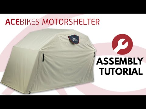 Acebikes Motor Shelter, Faltgarage, L'abri moto, assembly tutorial