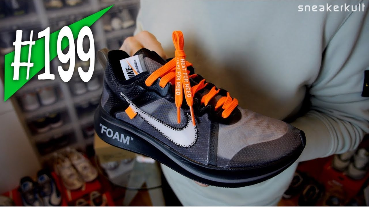 promo code 1d799 52e84 199 - Off-White x Nike Zoom Fly Black + Heat for Need Laces Asphaltgold -  Review - sneakerkult