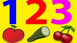 Nauka Cyferek dla Dzieci po Polsku - Owoce i Warzywa 1-10