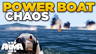 POWER BOAT CHAOS | ARMA 3 Apex - TANOA