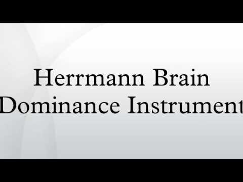 Herrmann Brain Dominance Instrument