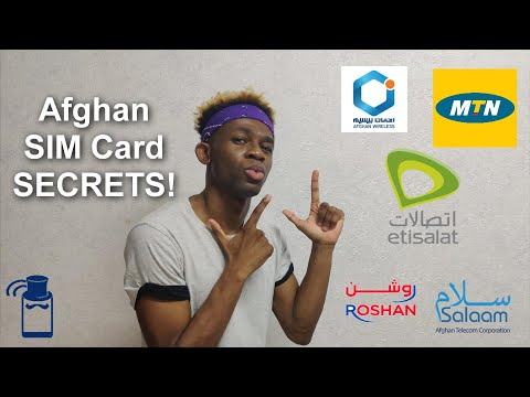 Buying a SIM Card in Afghanistan 🇦🇫 - A COMPLETE Guide Covering MTN, Etisalat & Roshan (in English)