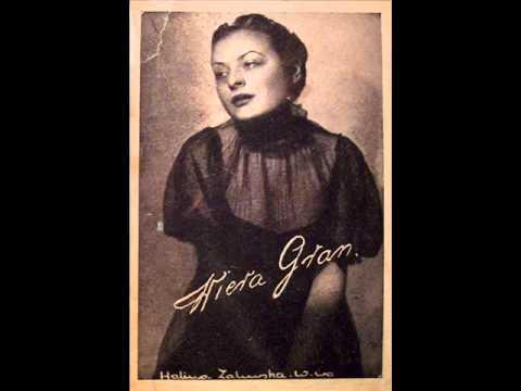 Wiera Gran - Czy pamietasz malenka kawiarenke? (Polish tango, 1936).avi
