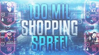 NBA Live Mobile - 100 MILLION COIN SHOPPING SPREE!! - GOING FROM 65 TO 94 FRANCHISE! BIGGEST ON YT!!