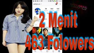 Tutorial Cara Menambah Followers Instagram #2Menit up to 463 followers