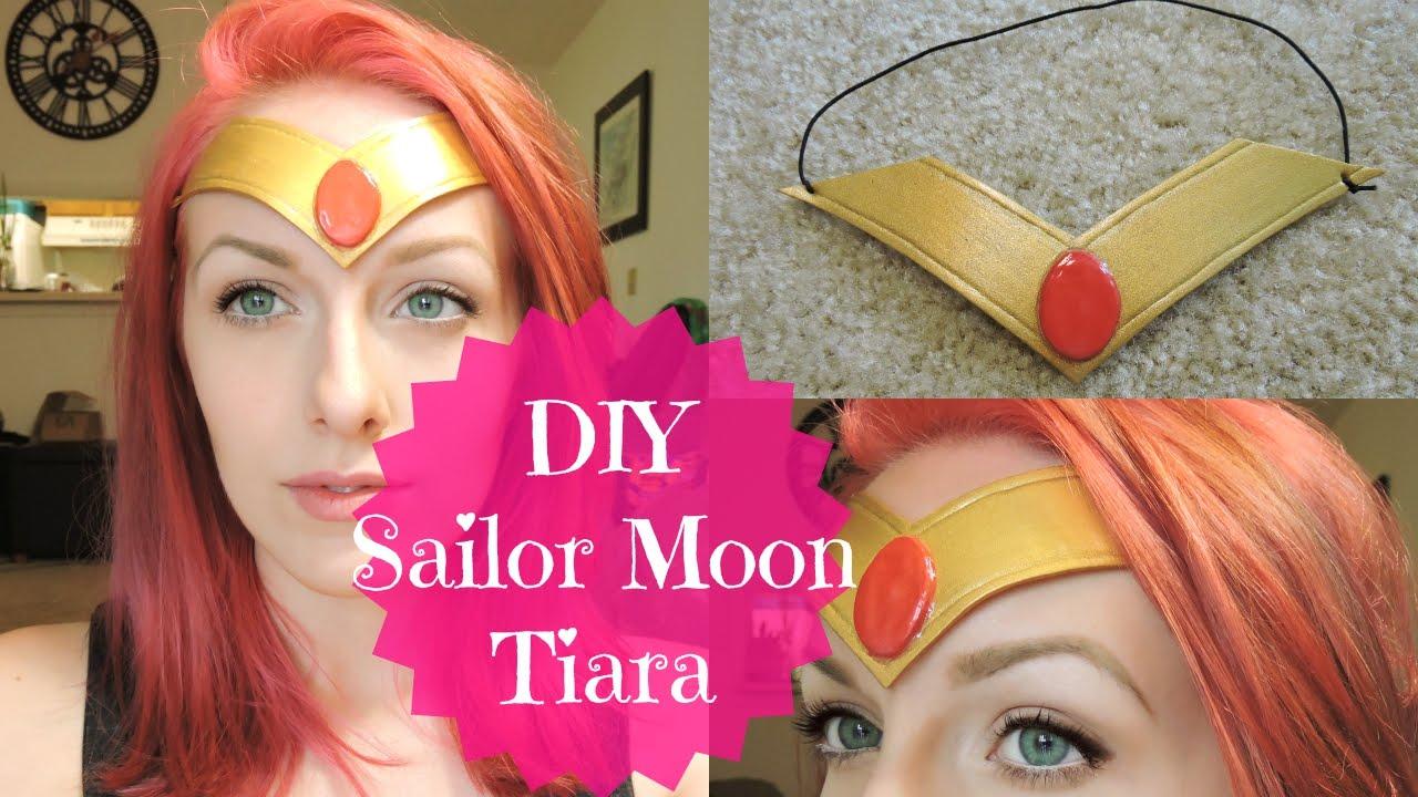 Diy sailor moon tiara headband super cheap easy youtube solutioingenieria Images