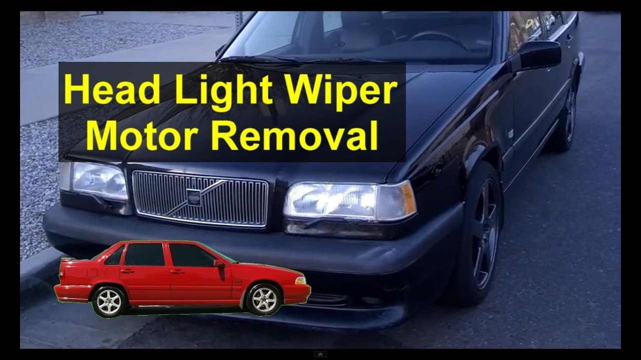 Headlight Wiper Motor Removal And Information Volvo 850 S70 V70 2005 Xc90 Engine Diagram Etc Auto Repair Series Youtube