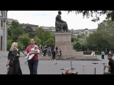 Ереван, 24.05.20, Su, От Оперы к пр.Маштоца, Розы, 67-ой день, Video-1.