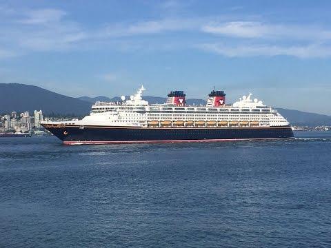 Cruise Ship DISNEY WONDER departing Vancouver, BC (June 6, 2016)