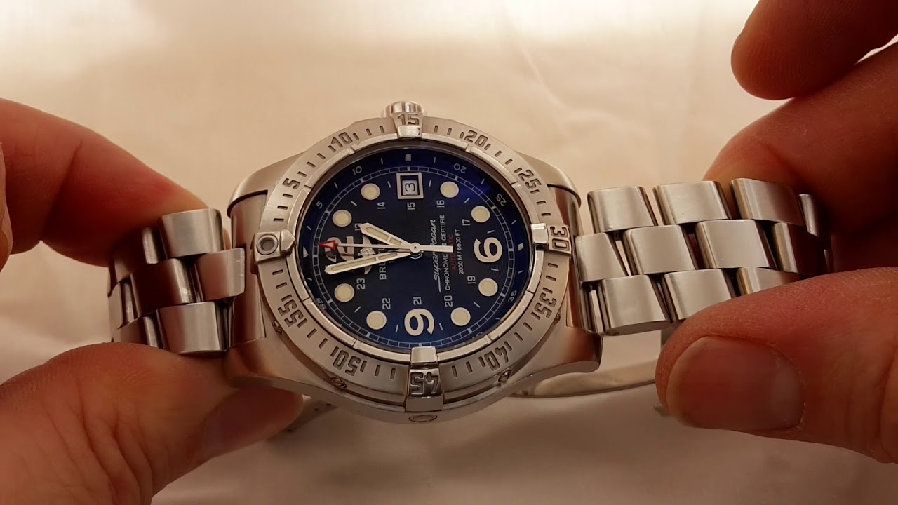 brand new 419bf 5d251 2008 Breitling SuperOcean Steelfish A17390
