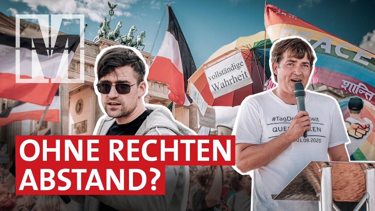 Corona-Demos: Zwischen Regenbogen- und Reichskriegsflagge
